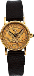 Timepieces:Wristwatch, Corum Ladies Gold US $5 Dollar Coin Watch. ...