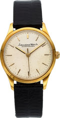Timepieces:Wristwatch, IWC 18k YG 1950's Dress Watch, 32 mm. ...