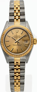 Timepieces:Wristwatch, Rolex, Ref: 79173, Steel and Gold Ladies Datejust, Circa 2004. ...