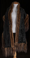 American:Academic, A Zsa Zsa Gabor Pair of Fur Stoles, Circa 1960s.. Two total; thefirst light brown, lined in dark brown silk, no label prese...(Total: 2 Items)