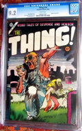 Golden Age (1938-1955):Horror, The Thing! #16 (Charlton, 1954) CGC NM- 9.2 White pages.