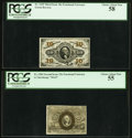 Fractional Currency:Third Issue, Fr. 1255 10¢ Third Issue PCGS Choice About New 58.. Fr. 1284 25¢Second Issue PCGS Choice About New 55.. ... (Total: 2 notes)
