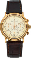 Timepieces:Wristwatch, Blancpain, Ref:1185-1418-55, 18k Rose Gold Villeret Chronograph, Circa 1998. ...