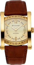 Timepieces:Wristwatch, Bvlgari, Ref. AA44G, 18k Gold Assioma, Circa 2000's. ...