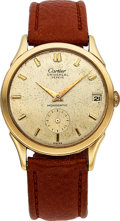 Timepieces:Wristwatch, Universal Geneve Monodatic with Cartier dial bumper movement. ...