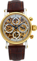 Timepieces:Wristwatch, Chronoswiss, Ref: CH7522, Opus Steel/18k Gold Skeleton Chronograph,Circa 2000 . ...