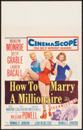 """Movie Posters:Comedy, How to Marry a Millionaire (20th Century Fox, 1953). Window Card(14"""" X 22""""). Comedy.. ..."""