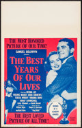 """Movie Posters:Drama, The Best Years of Our Lives (RKO, R-1954). Window Card (14"""" X 22""""). Drama.. ..."""