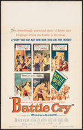 "Movie Posters:War, Battle Cry & Other Lot (Warner Brothers, 1955). Window Cards(2) (14"" X 22""). War.. ... (Total: 2 Items)"