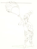 Animation Art:Production Drawing, Fantasia Nubian Centaurette Animation Drawing (Walt Disney,1940)....
