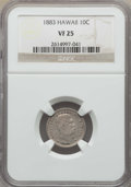 Coins of Hawaii , 1883 10C Hawaii Ten Cents VF25 NGC. NGC Census: (30/442). PCGS Population: (46/728). Mintage 249,921. ...