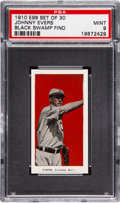 """Baseball Cards:Singles (Pre-1930), 1910 E98 """"Set of 30"""" Johnny Evers (Red) PSA Mint 9 - Black SwampFind. Pop One, Highest Known!..."""