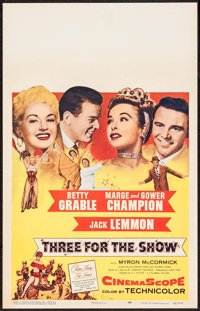 "Three for the Show & Others Lot (Columbia, 1954). Window Card (3) (14"" X 22""). Musical. ... (Total: 3 Item..."