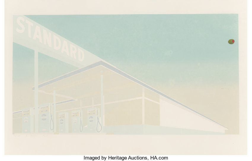 Ed Ruscha (b  1937)  Cheese Mold Standard with Olive, 1969