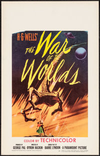 """The War of the Worlds (Paramount, 1953). Window Card (14"""" X 22""""). Science Fiction"""