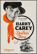 "Movie Posters:Western, Driftin' Thru (Pathé, 1926). Foldout Advertisement (22"" X 16 Unfolded, 11"" X 8"" Folded). Western.. ..."
