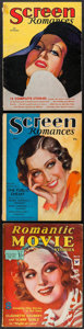 "Movie Posters:Miscellaneous, Screen Romances & Other Lot (Dell Publishing, 1931-1934).Fine-. Magazines (6) (Multiple Pages, 8.5"" X 11.5"" & 8.5"" X..."