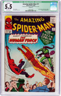 Silver Age (1956-1969):Superhero, The Amazing Spider-Man #17 (Marvel, 1964) CGC Qualified FN- 5.5 Off-white pages....
