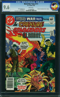 Weird War Tales #111 - From The CHARLESTON COLLECTION (DC, 1982) CGC NM+ 9.6 White pages