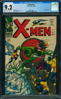 X-Men #21 (Marvel, 1966) CGC NM- 9.2 OFF-WHITE TO WHITE pages