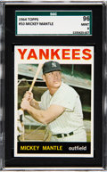 Baseball Cards:Singles (1960-1969), 1964 Topps Mickey Mantle #50 SGC 96 Mint 9 - None Higher....
