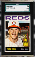 Baseball Cards:Singles (1960-1969), 1964 Topps Pete Rose #125 SGC 96 Mint 9 - Pop Four, None Higher....