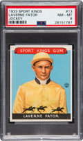 Olympic Cards:General, 1933 Sport Kings Laverne Fator #13 PSA NM-MT 8. ...