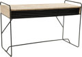 Furniture : American, American School (20th Century). Console Table, circa 1952.Enameled steel, painted wood. 30-1/4 x 48 x 19 inches (76.8 x...