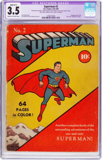 Superman #2 (DC, 1939) CGC Apparent VG- 3.5 Slight (B-1) Cream to off-white pages