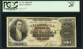 Large Size:Silver Certificates, Fr. 341 $100 1880 Silver Certificate PCGS Very Fine 20.. ...