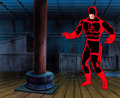 Animation Art:Production Cel, Fantastic Four Daredevil Production Cel with PaintedBackground and Animation Drawing (Marvel Studios, 1995).. ...(Total: 3 Items)