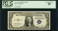 Small Size:Silver Certificates, Solid 9 Serial Fr. 1613W $1 1935D Silver Certificate. PCGS Extremely Fine 40.. ...