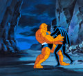 Animation Art:Production Cel, Fantastic Four Black Panther and the Thing Production Celwith Painted Background and Animation Drawing (Marvel Studio...(Total: 3 Items)