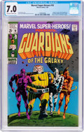 Silver Age (1956-1969):Superhero, Marvel Super-Heroes #18 Guardians of the Galaxy (Marvel, 1969) CGC FN/VF 7.0 Off-white to white pages....