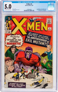 Silver Age (1956-1969):Superhero, X-Men #4 (Marvel, 1964) CGC VG/FN 5.0 Off-white to white pages....