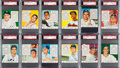 Baseball Cards:Sets, 1953 Red Man (With Tabs) American League PSA-Graded Complete Set (26). ...