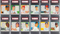 Baseball Cards:Sets, 1954 Red Man (With Tabs) National League PSA-Graded Near Set (25/26). ...