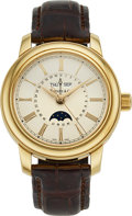 Timepieces, Tiffany & Co. 18k Gold Automatic Moon Phase Calendar. ...