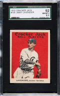 Baseball Cards:Singles (Pre-1930), 1915 Cracker Jack Jimmy Lavender #105 SGC 92 NM/MT+ 8.5 - Pop One,Two Higher....