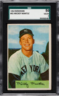 Baseball Cards:Singles (1950-1959), 1954 Bowman Mickey Mantle #65 SGC 50 VG/EX 4....