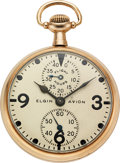 "Timepieces:Pocket (post 1900), Elgin ""Avion"" B.W. Raymond Wind Indicator. ... (Total: 2 Items)"