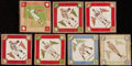 Baseball Cards:Lots, 1914 B18 Baseball Blankets Collecdtion With Ty Cobb and Two WalterJohnson's. . ...