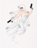 Original Comic Art:Splash Pages, Bruce Timm Ghost Pin-Up Illustration Original Art (1995)....