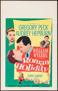"Movie Posters:Romance, Roman Holiday (Paramount, 1953). Window Card (14"" X 22""). Romance....."
