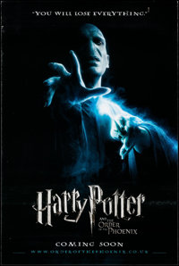 """Harry Potter and the Order of the Phoenix (Warner Brothers, 2007). British One Sheet (27"""" X 40"""") DS Teaser. Fa..."""