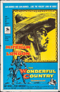 """Movie Posters:Western, The Wonderful Country (United Artists, 1959). Folded, Fine/Very Fine. One Sheet (27"""" X 41""""). Western.. ..."""
