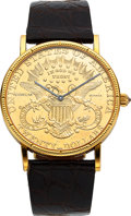 Timepieces:Wristwatch, Corum, 1904 $20 Gold Liberty Coin, Circa 1980's. ...