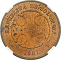 Colombia, Colombia: Lazareto (Leper Colony) 50 Centavos 1901 MS61 BrownNGC,...