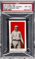 "Baseball Cards:Singles (Pre-1930), 1910 E98 ""Set of 30"" Cy Young (Red) PSA NM-MT 8 - Black Swamp Find...."