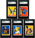 Football Cards:Sets, 1948 Leaf Football Partial Set (72/98) With 23 High Numbers Plus (5) 1949 Cards. ...